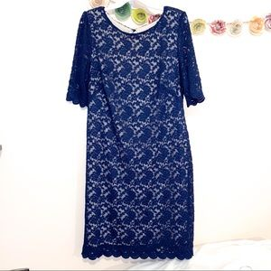 Women's blue lace dress- mother of the bride/groom